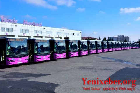 Bakıda Marşrut avtobusları dezinfeksiya olunu