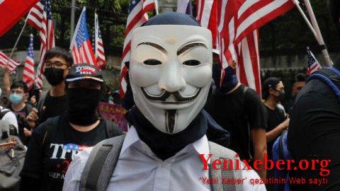"""ABŞ-dakı etirazlara""""Anonymous""""haker qrupu da qoşuldu"""