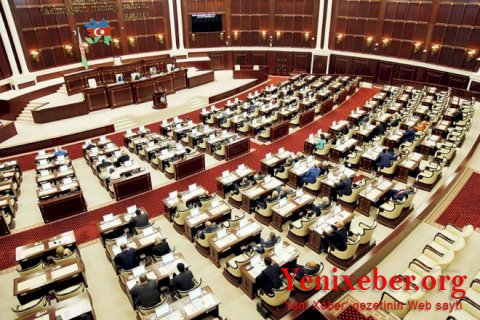 Milli Məclisin növbədənkənar sessiyasının plenar iclaslarının gündəliyi açıqlandı