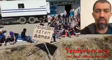 Polis Dağıstanda Azərbaycan vətəndaşlarının etiraz aksiyasını qəddarcasına dağıdıb-