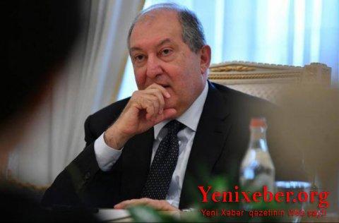 Armen Sarkisyan Qarabağa gəldi