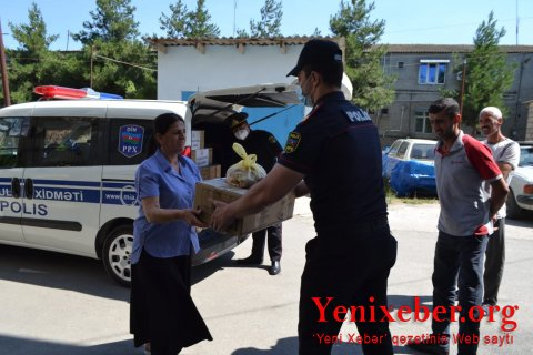 XAÇMAZ POLİSİ ONLARIN BAYRAM SEVİNCİNƏ QOŞULDU