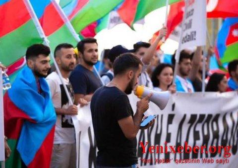 İsraildə Azərbaycana dəstək aksiyası keçirilib-