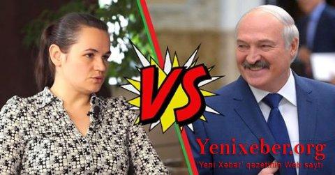 Svetlana Tixanovskya 72 % , Aleksandr Lukaşenko 13.7 %-