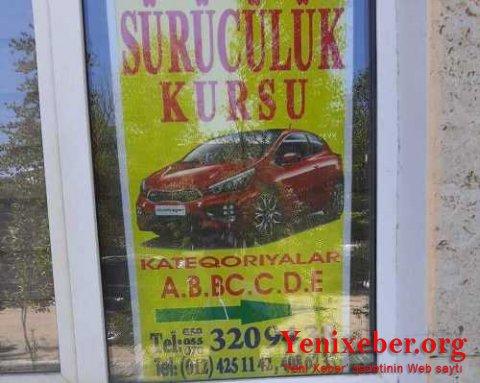 12 saylı Bakı Peşə Liseyinin idman zalı sürücülük kursuna çevrilib-