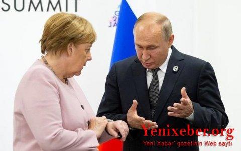 Putin Merkellə telefonla danışdı–