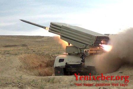 Artilleriya bölmələrinin döyüş atışlı təlimləri keçirilib-