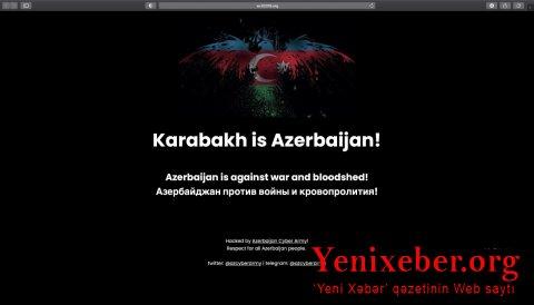 Ermənistanın xəbər saytları könüllü hakerlərimiz tərəfindən dağıdıldı