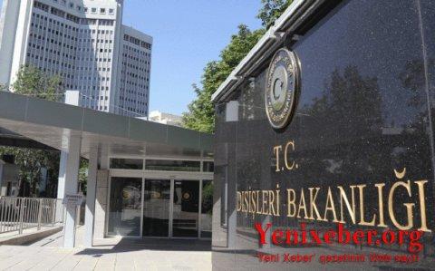 Türkiyə XİN Ermənistanın Gəncəni bombalamasını pisləyib-