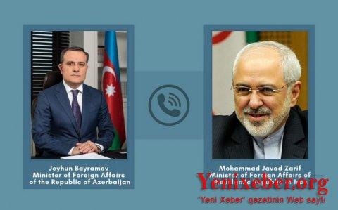 Azərbaycan və İran XİN başçıları telefonla danışıb