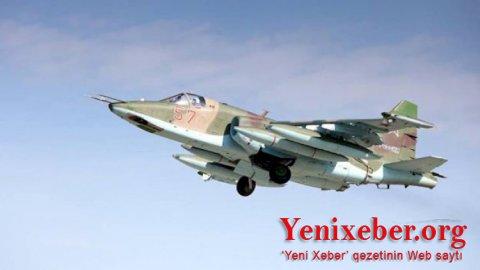 Düşmənin Su-25 təyyarəsi məhv edilib