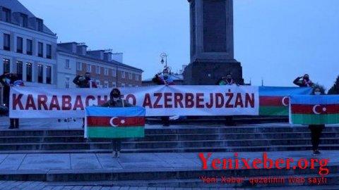 Varşavada da Gəncə terroruna etiraz edildi—