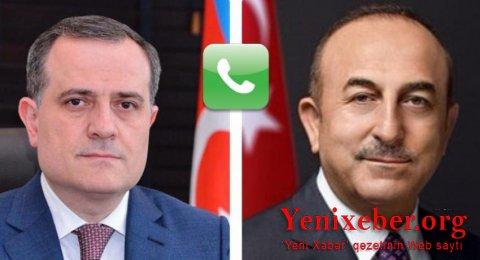 Ceyhun Bayramovla Mövlud Çavuşoğlu telefonla danışıb