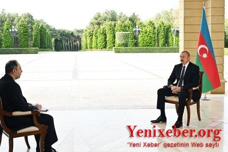 Prezident İlham Əliyev Rusiyanın İnterfaks agentliyinə müsahibə verib-