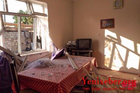 Ermənistan silahlı qüvvələri Ağdamda yaşayış evlərini raket atəşinə tutub -