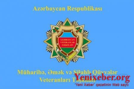 Müharibə, Əmək və Silahlı Qüvvələr Veteranları Təşkilatı rəhbərliyinə ŞOK İTTİHAM-