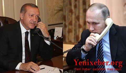 Ərdoğan və Putin Qarabağ məsələsini müzakirə etdilər