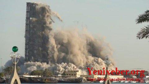 144 mərtəbəli bina 10 saniyəyə söküldü-