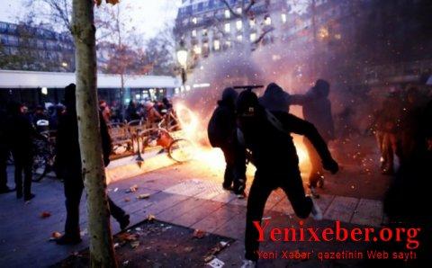 Fransadakı aksiyalarda 60-dan çox polis yaralanıb