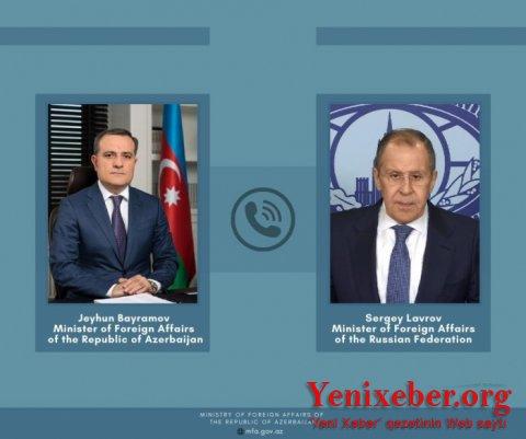 Ceyhun Bayramov Lavrovla telefonla danışıb