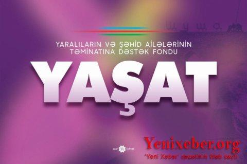 """""""YAŞAT"""" Fonduna 1,5 milyon manat vəsait ianə edildi-"""