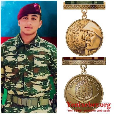 """Şəhidimiz Yalçın Rəhimov  """"İgidliyə görə"""" medalı ilə təltif edildi-"""
