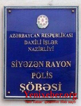 Siyəzən Rayon Polis Şöbəsinin əməkdaşları -