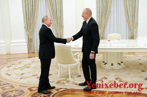 İlham Əliyev, Vladimir Putin və Nikol Paşinyan arasında görüş başa çatdı-