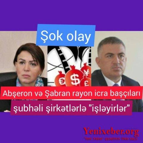 Abşeron və Şabran icra başçıları şübhəli şirkətlərlə işləyirlər-