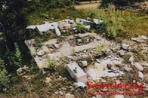Erməni vandalizmi:Qəbiristanlıq yerlə-yeksan olunub -
