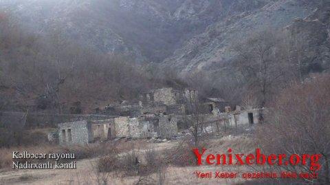 Kəlbəcərin Nadirxanlı kəndindən görüntülər -