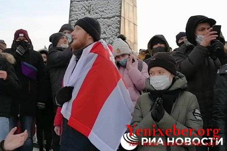 Rusiyada Navalnının həbsinə etiraz aksiyaları keçirilir -