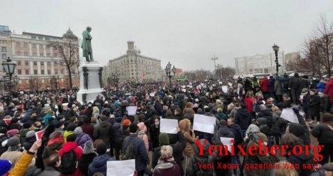 Navalnıya dəstək mitinqinə qatılanlar araşdırılır –