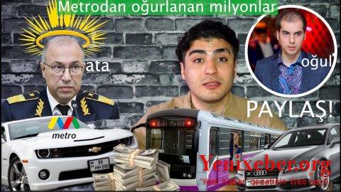 """""""Bakı Metropoliteni"""" QSC-ni yağmalayan Zaur Hüseynovun oğlunun TOPDAĞITMAZ biznesi –"""