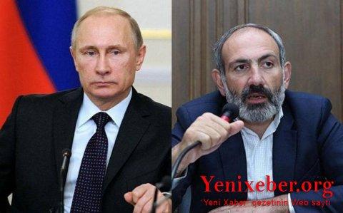 Putin Paşinyanla Qarabağ razılaşmasının icrasını müzakirə edib