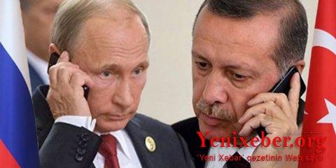 Ərdoğanla Putin arasında telefon danışığı olub