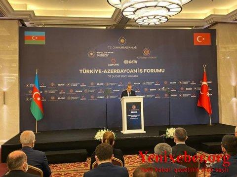 Türkiyə-Azərbaycan İşgüzar Forumu keçirilir-