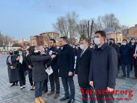 """Türkiyəli gənclər """"Xocalıya ədalət!"""" tələb edirlər-"""
