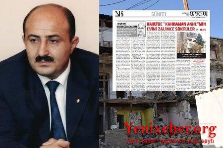 Nəsimi rayon icra başçısının özbaşınalıqları Türkiyə mətbuatında –