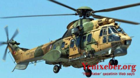 Türkiyədə hərbi helikopter qəzaya uğradı-