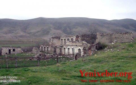 Füzuli rayonunun Qarakollu kəndinin görüntüləri-