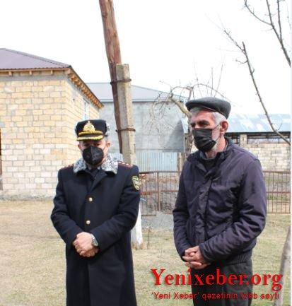 Polis Qaxda şəhid ailələrini ziyarət edib-