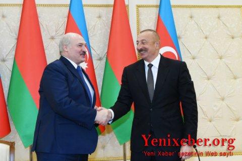 Azərbaycan və Belarus prezidentlərinin mətbuata bəyanatları -