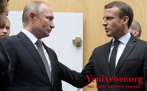 Emmanuel Makron Vladimir Putinlə danışmaq istəyir