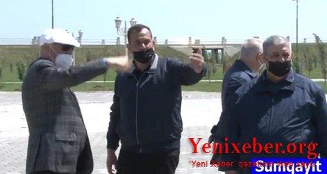 """""""Zakir Fərəcovun sifarişi ilə həbs edilmişəm…"""" deyən iş adamı yenidən icra başçısının yanında peyda olub –"""