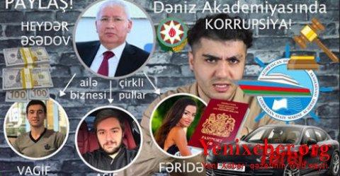 Keçmiş KT naziri, Dəniz Akademiyasının rektoru Heydər Əsədovun milyonları -
